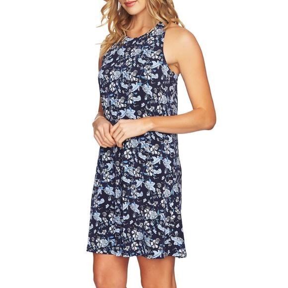 CeCe Dresses & Skirts - CeCe Ivy Forest Twist Back Shift Dress